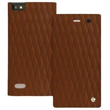 BlackBerry Leap Noreve Tradition D Läpällinen Nahkakotelo Perpétuelle Couture Ruskea