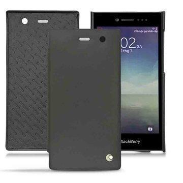 BlackBerry Leap Noreve Tradition D Läpällinen Nahkakotelo Perpétuelle Musta
