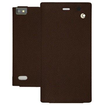 BlackBerry Leap Noreve Tradition Läpällinen Nahkakotelo Ambition Kastanjanruskea
