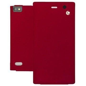BlackBerry Leap Noreve Tradition Läpällinen Nahkakotelo Perpétuelle Punainen