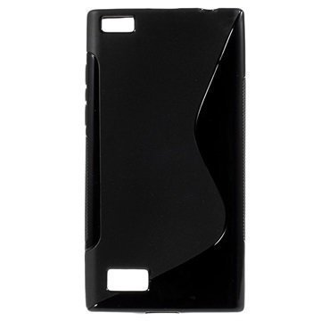 BlackBerry Leap S-Curve TPU-Kotelo Musta