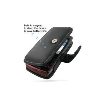 BlackBerry Pearl 3G 9100 PDair Leather Case 3BBBP9B41 Musta