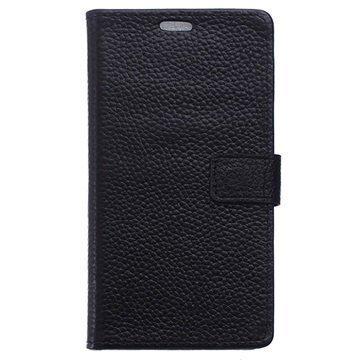 BlackBerry Priv Nahkainen Lompakkokotelo Musta