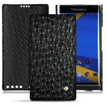 BlackBerry Priv Noreve Tradition D Nahkainen Läppäkotelo Horizon Autruche Musta