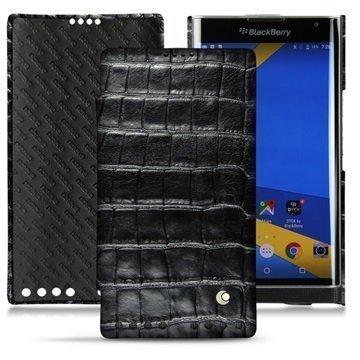 BlackBerry Priv Noreve Tradition D Nahkainen Läppäkotelo Horizon Crocodile Musta