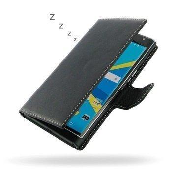 BlackBerry Priv PDair Deluxe Book Type Nahkakotelo Musta
