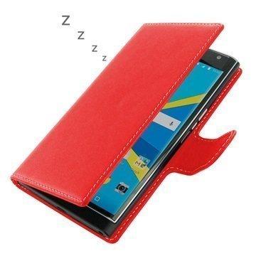 BlackBerry Priv PDair Deluxe Book Type Nahkakotelo Punainen