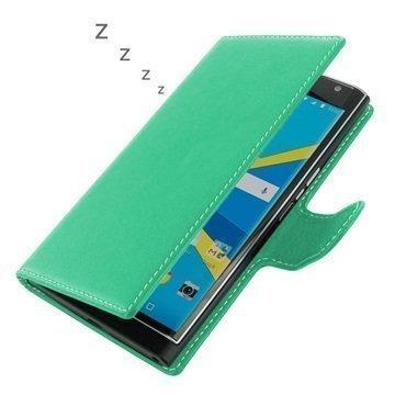 BlackBerry Priv PDair Deluxe Book Type Nahkakotelo Turkoosi