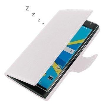 BlackBerry Priv PDair Deluxe Book Type Nahkakotelo Valkoinen