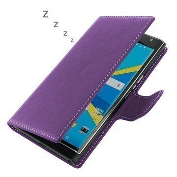 BlackBerry Priv PDair Deluxe Book Type Nahkakotelo Violetti