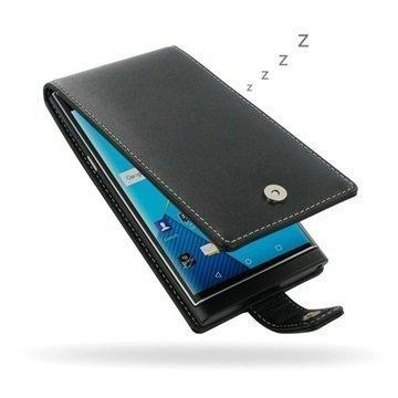 BlackBerry Priv PDair Deluxe Nahkainen Läppäkotelo Musta