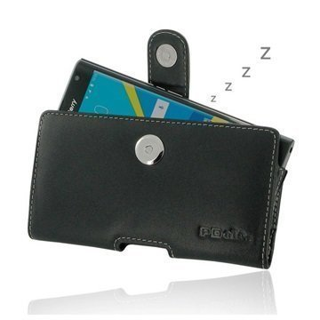 BlackBerry Priv PDair Vaakasuuntainen Nahkakotelo Musta