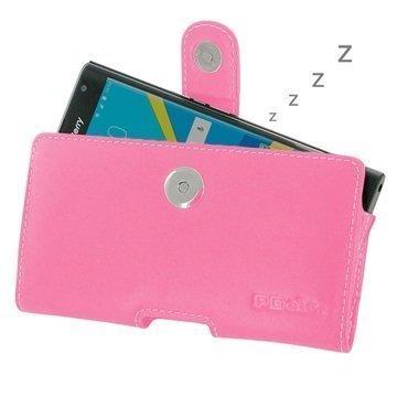 BlackBerry Priv PDair Vaakasuuntainen Nahkakotelo Pinkki