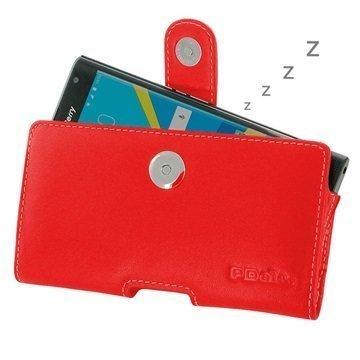 BlackBerry Priv PDair Vaakasuuntainen Nahkakotelo Punainen