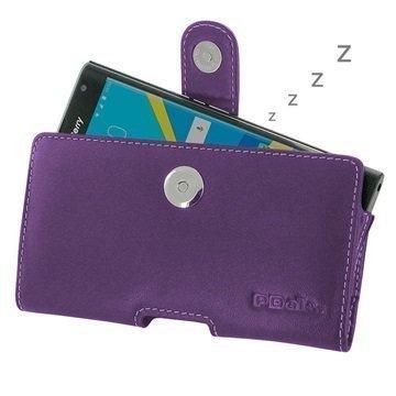 BlackBerry Priv PDair Vaakasuuntainen Nahkakotelo Violetti