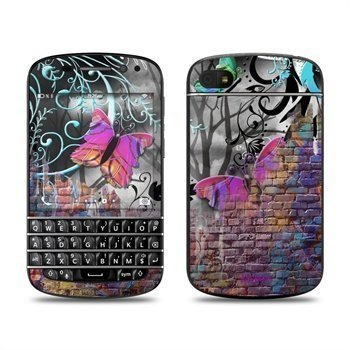 BlackBerry Q10 Butterfly Wall Skin