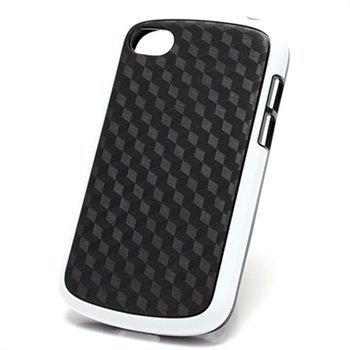 BlackBerry Q10 Cube Design Hybrid Case Black / White