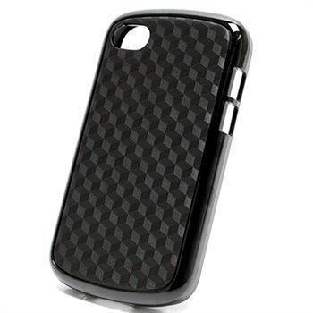 BlackBerry Q10 Cube Design Hybrid Case Black
