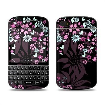 BlackBerry Q10 Dark Flowers Skin