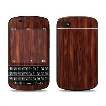 BlackBerry Q10 Dark Rosewood Skin