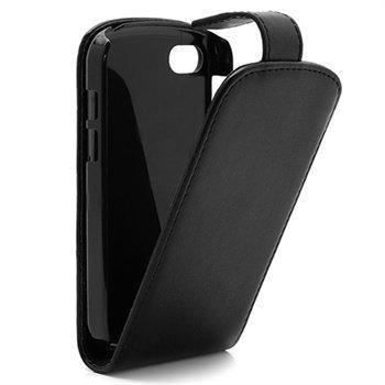 BlackBerry Q10 Läpällinen Nahkakotelo Musta