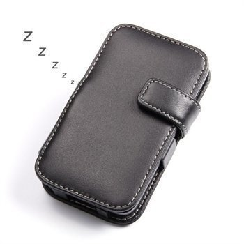 BlackBerry Q5 PDair Leather Case 3BBBY5B41 Musta