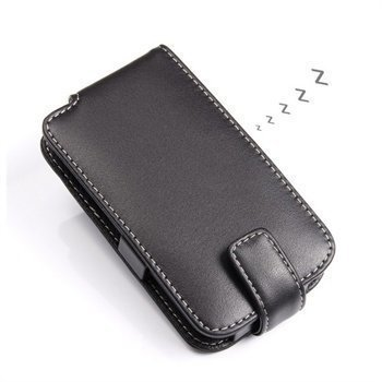 BlackBerry Q5 PDair Leather Case 3BBBY5F41 Musta