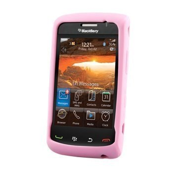 BlackBerry Storm 2 9550 Silicone Cover Vaaleanpunainen