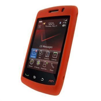 BlackBerry Storm2 9550 9520 iGadgitz Silicone Case Red