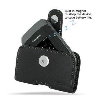 BlackBerry Style 9670 PDair Vaakakotelo Nahka Musta