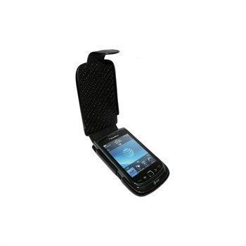 BlackBerry Torch 9800 Piel Frama iMagnum Nahkakotelo Musta
