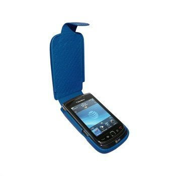 BlackBerry Torch 9800 Piel Frama iMagnum Nahkakotelo Sininen
