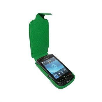 BlackBerry Torch 9800 Piel Frama iMagnum Nahkakotelo Vihreä