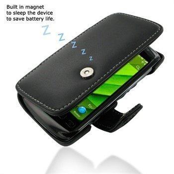 BlackBerry Torch 9850 PDair Leather Case 3BBBT6B41 Musta
