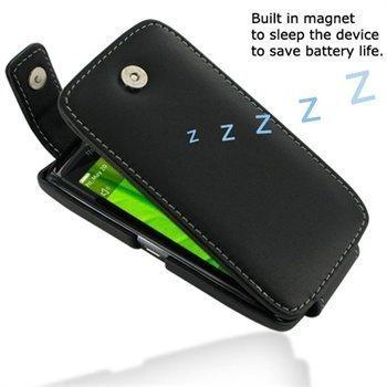 BlackBerry Torch 9850 PDair Leather Case 3BBBT6T41 Musta