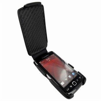 BlackBerry Torch 9850 Torch 9860 Piel Frama iMagnum Nahkakotelo Musta