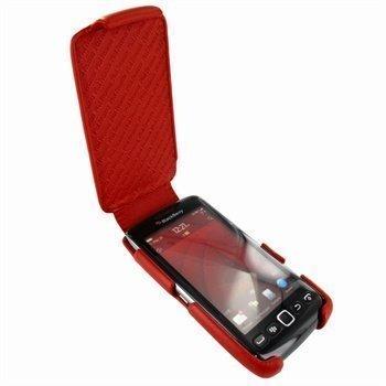 BlackBerry Torch 9850 Torch 9860 Piel Frama iMagnum Nahkakotelo Punainen