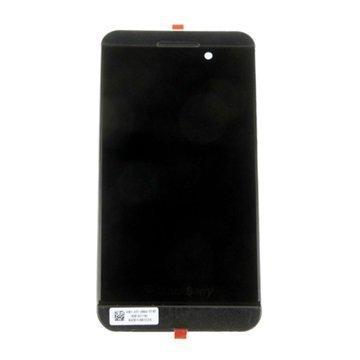 BlackBerry Z10 4G Etukuori & LCD Näyttö Musta