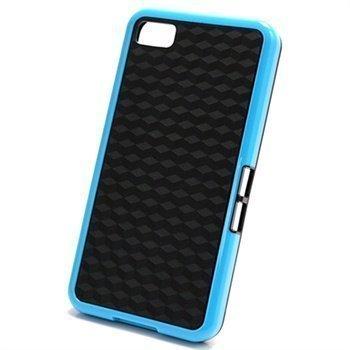 BlackBerry Z10 Cube Design Hybrid Case Black / Blue
