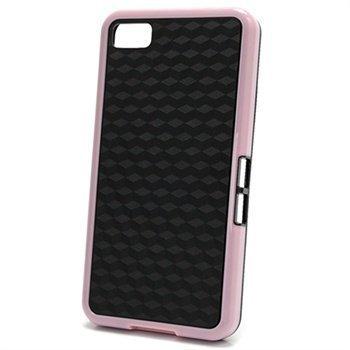 BlackBerry Z10 Cube Design Hybrid Case Black / Pink