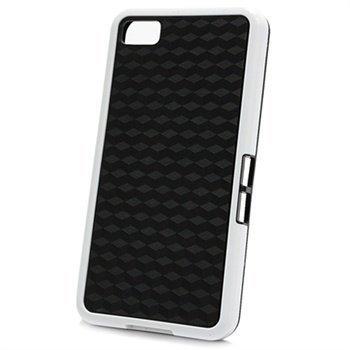 BlackBerry Z10 Cube Design Hybrid Case Black / White