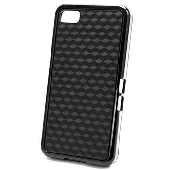 BlackBerry Z10 Cube Design Hybrid Case Black