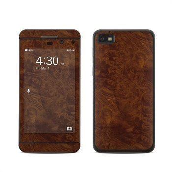 BlackBerry Z10 Dark Burlwood Skin