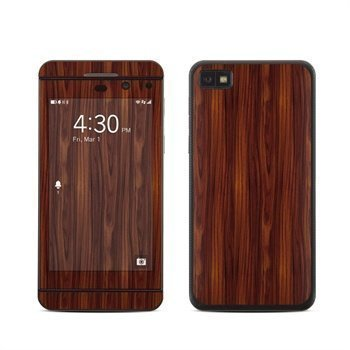 BlackBerry Z10 Dark Rosewood Skin