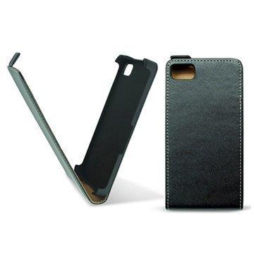 BlackBerry Z10 Ksix Pystysuuntainen Nahkainen Läppäkotelo Musta