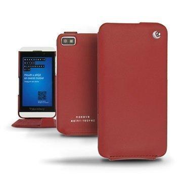 BlackBerry Z10 Noreve Tradition Läpällinen Nahkakotelo Punainen