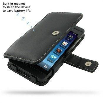 BlackBerry Z10 PDair Leather Case 3BBBYZB41 Musta