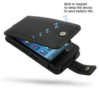 BlackBerry Z10 PDair Leather Case 3BBBYZF41 Musta