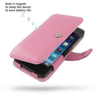 BlackBerry Z10 PDair Leather Case 3JBBYZB41 Vaaleanpunainen