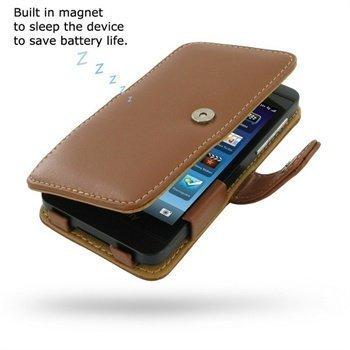 BlackBerry Z10 PDair Leather Case 3TBBYZB41 Ruskea